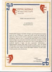 PREMIO SPETTACOLO APRILIA